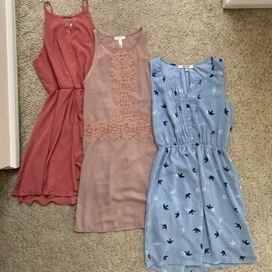 Set of 3 spring dresses